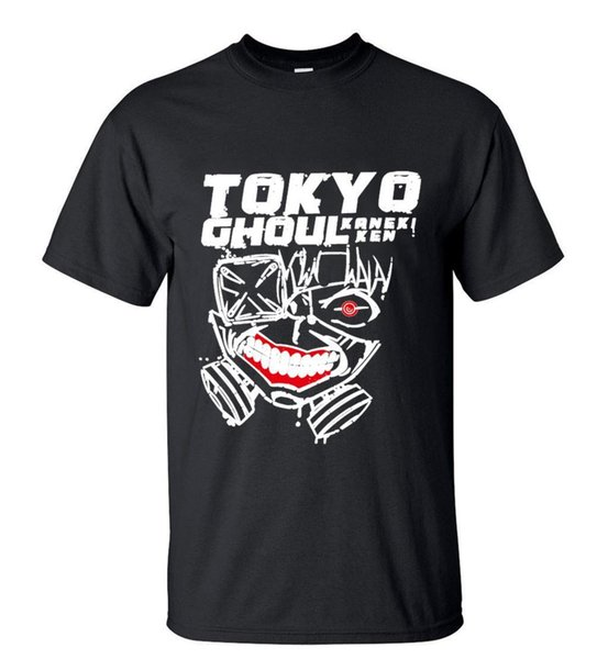 New Arrivals Japan Anime Tokyo Ghoul Short Sleeve mens t shirt 100% cotton 2018 New Tee Print Men T-Shirt Tops Hip Hop Short T Shirt