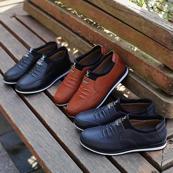 Compre 2018 Nuevos Vestidos De Los Hombres De La Versión Coreana De La Tendencia De Los Zapatos De Los Hombres De Carrefour Británicos De Negocios