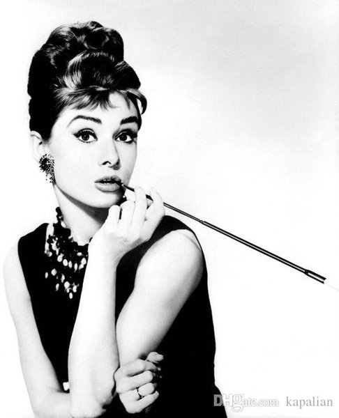 Free Shipping Audrey Hepburn High Quality Art Posters Print Photo paper 16 24 36 47 inches