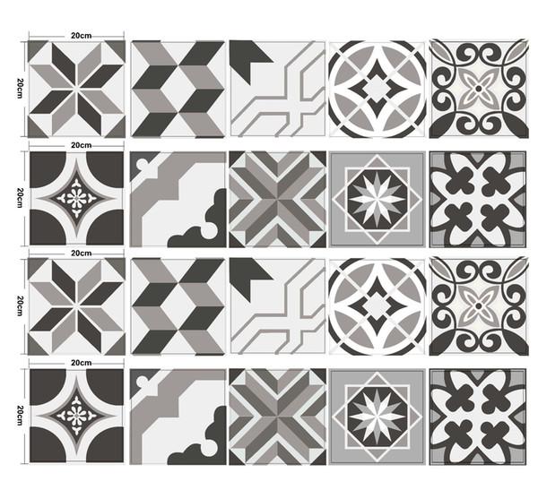 Piastrelle da muro cheap nuova piastrella della parete della camera da letto di desig cermet - Adesivi decorativi per piastrelle ...