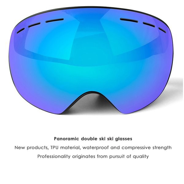 Double Layers Snow Snowboard Goggles Outdoor Anti-UV Skiing Goggles Anti-fog Big Vision Mask Glasses for Men Women