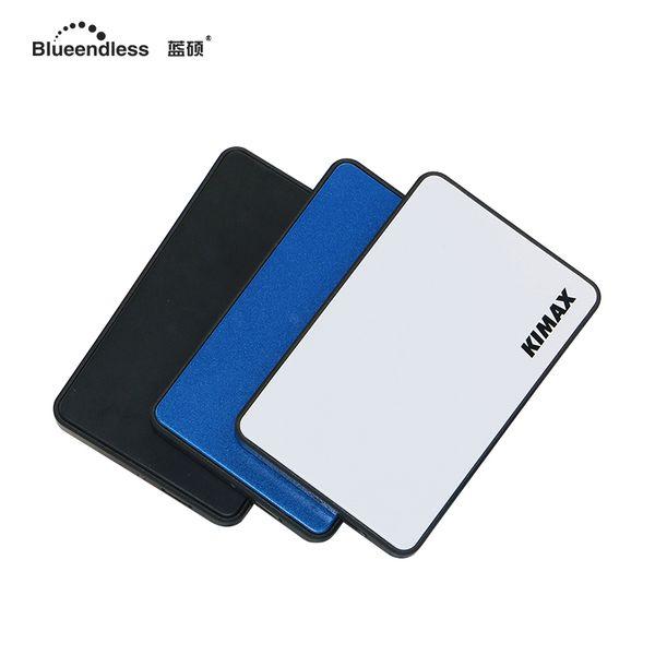 ssd hdd enclosure tool-free external 2.5''disk sata external hard drive case aluminum hard disk caddy free shipping Blueendless