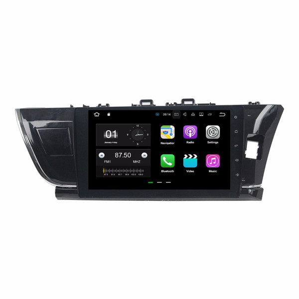 """For Toyota Corolla Right 2014 2015 10.1"""" Android 7.1 Quad Core 2GB RAM Car DVD Car Radio DVD GPS With Bluetooth WIFI Mirror-link USB DVR"""