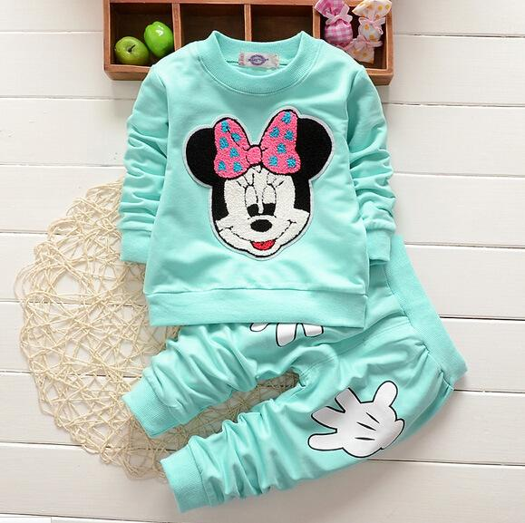 Fashion Cute Newborn Baby Clothing Toddler 6 12 18 24 Month Baby Girl Clothes Boys Infant Sweatshirt + Pant Set Y18102208