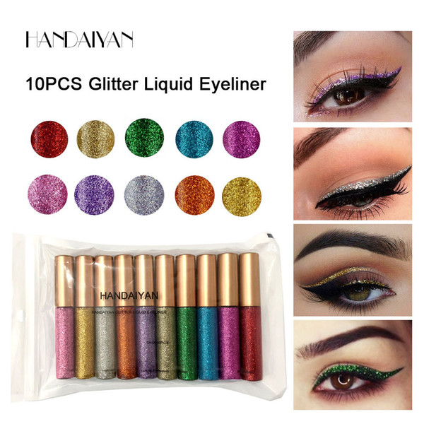 best selling Liquid Eyeshadow Long Lasting Waterproof Liquid Glitter Eyeliner Pencils 10 colors Shining Shimmer Eye Liner Makeup eyeliner liquid shadow