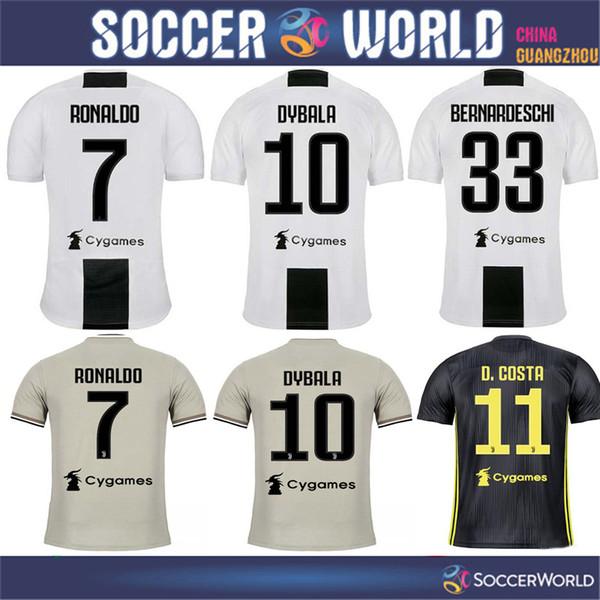 Top Juventus  7 RONALDO Home soccer jersey 18 19  10 DYBALA Juventus away   17 MANDZUKIC BONUCCI football uniform Sales size S-3XL c32f66ceb