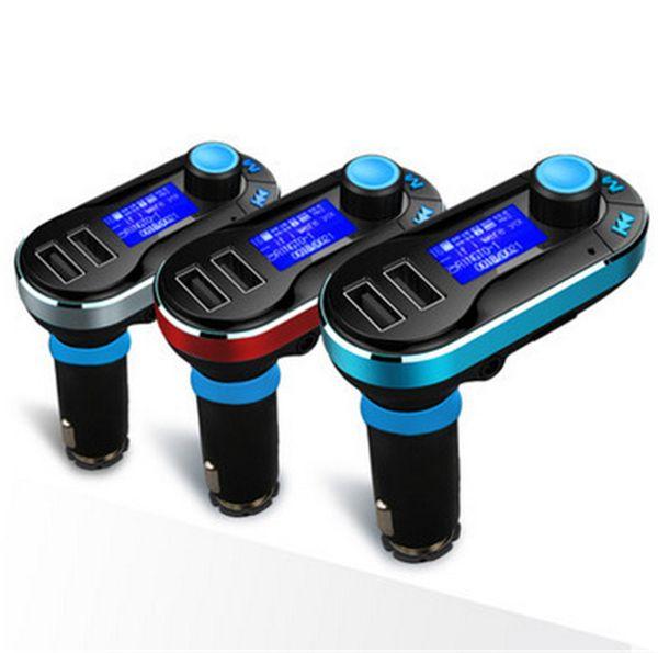 Беспроводной T66 MP3-плеер автомобильный комплект FM-передатчик с автомобиля аудио пульт дистанционного управления ЖК-дисплей DHL бесплатно