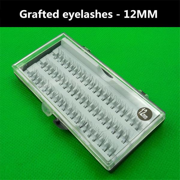 Hot 1 box 60pcs 12MM High Quality Natural Extension Eye Lashes Grafting Fake False Eyelashes Makeup Tools