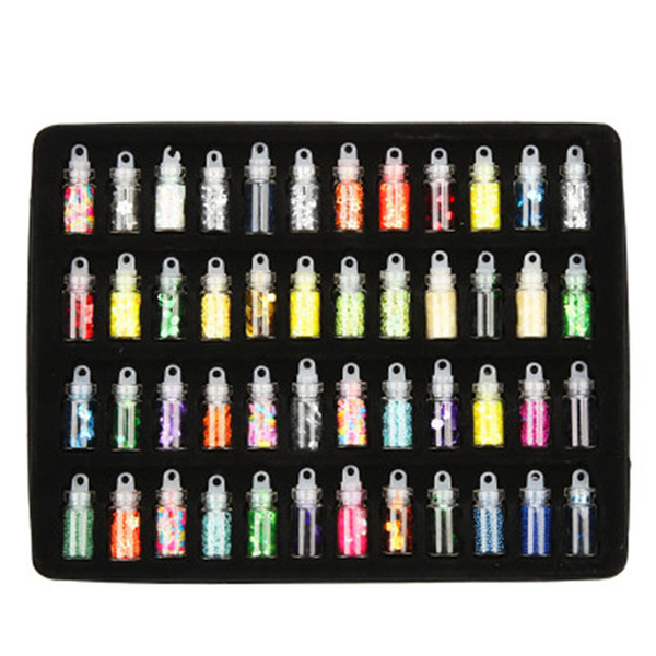 1 pc High Quality Beautiful Armor Jewelry DIY Parts 48 Color Glass Bottled Nail Subsidies Cost Performance