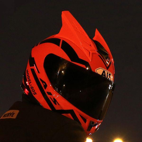 Men and women Motorcycle Helmet Half Full Helmet Cover Personality Cool Four Seasons Summer Locomotive Racing Corner
