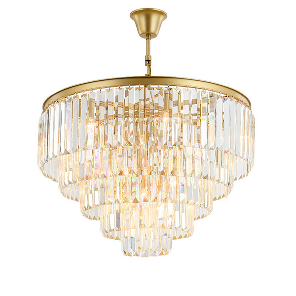 Modern Crystal Chandelier Lighting French Empire Golden Crystal Chandelier Chrome Chandeliers Lighting Lustres Ceiling High Quality Chandelier Table
