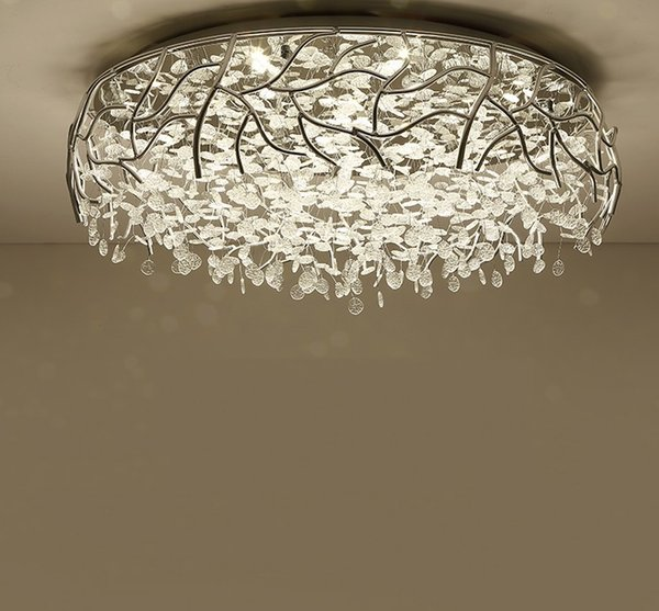 Led Modern Crystal Ceiling Lights Nordic Living Room Fixtures Novelty Bedroom Lamps Iron Glass