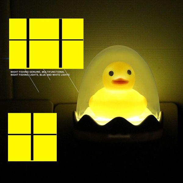 1PC New Nightlight Cute Mini Yellow Duck Night Light Kid Children Bedroom Creative Cartoon Decor Lamp EU US Plug Christmas Gifts