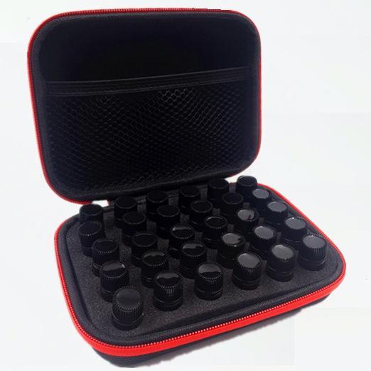 30 Slots 1-3 ML Saco De Armazenamento De Óleo Essencial Caixa de Espuma Portátil Shell Duro Carrying Case Melhor Para DoTerra Young Living Óleos