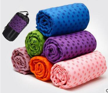 Free Shipping 50pcs/lot First class quality Yoga Blankets 180cm Extended yoga towel, yoga mat