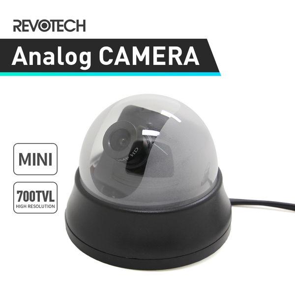 Noir Mini 700TVL Caméra couleur dôme intérieur Sony Effio-E CCD / CMOS CCTV Cam système analogique
