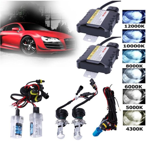 top popular HID Xenon LED Headlight Conversion KIT H1 H3 H4 H7 9005 9006 880 881 For Audi Lighting Slim Ballast KIT Bulbs Set Tools HHA63 2019