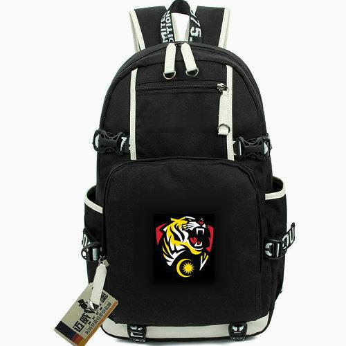 MYS backpack Malaysia team day pack Tiger head flag Football school bag Soccer knapsack Laptop rucksack Sport schoolbag Out door daypack
