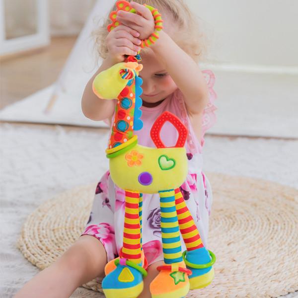 Babyspielzeug 0-1 Jahr Giraffe Plüsch Puppe Bett Anhänger bringen Zahnkleber