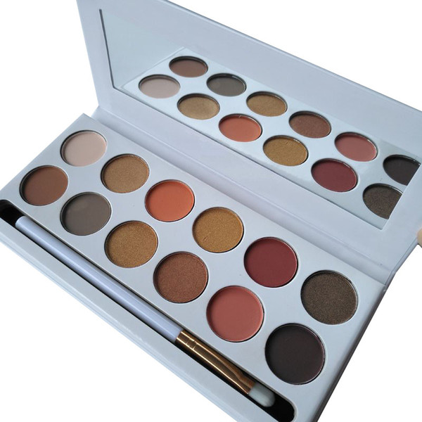 DHL Brands 12 colores Maquillaje Paleta de sombras de ojos Bronce de polvo prensado Borgoña Royal Peach Purple Holiday I Want It All Eyeshaodw Plaette