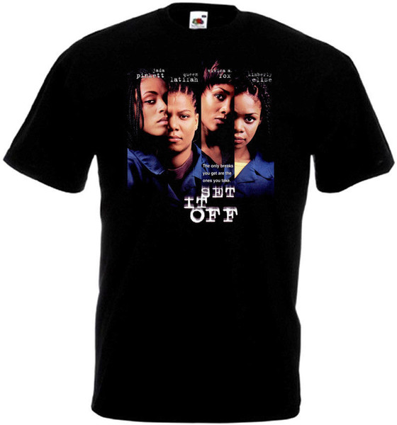 Custom Tees Short Sleeve Printing Machine Crew Neck Set It Off V4 T-Shirt Black Movie Poster All Sizes S To 3XL T Shirts For Men