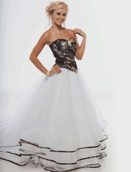 A-line Sleeveless Basque Waist Camo Wedding Dress Corset Back Plus Size Garden Camo Bridal Gown Dress