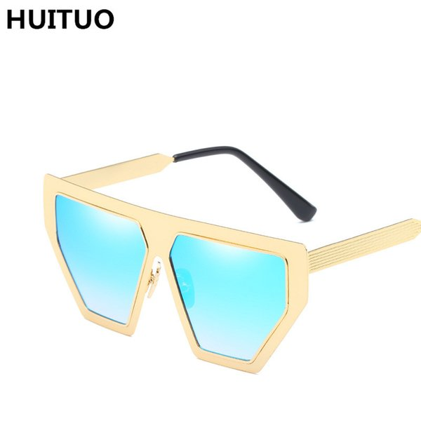 HUITUO Retro Brand Design Sunglasses Unisex Metal Trend Sun Glasses Men Outdoor Driving Fashion Eyeglasses Couple Spectacles