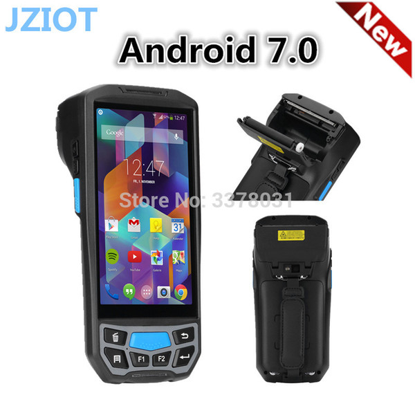 best selling android portable handheld pda with 58mm thermal printer barcode scanner nfc card reader 3g wifi sdk pda