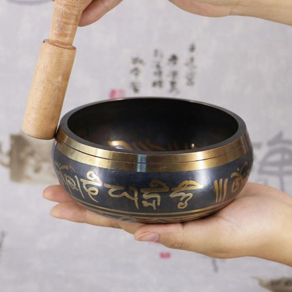 Yoga Tibétain Chant Bol Himalayen Main Martelé Chakra Méditation Religion Croyance Fournitures Bouddhistes Décoration de La Maison
