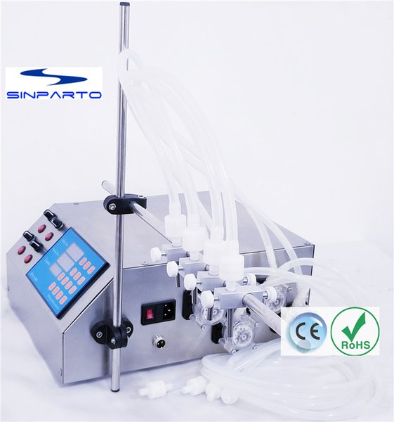 2019 GZL 80 Peristaltic Pump Filling Machine 0 5 600ml/Min With 4 Heads  Liquid Filler For Acids, Solvents, Perfumes, Edible Oil Filling Machine  From