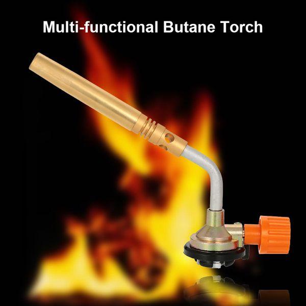 Versatile Butane Burner Solder Blower Welding BBQ gun Torch camping picnic Culinary Lighter Gas Flame Valve head flat Cylinder gas tank