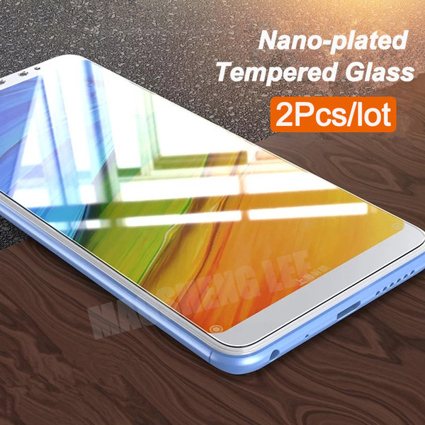 """2Pcs/lot Tempered Glass For Xiaomi Redmi Note 5 Global version Screen Protector 5.99"""" Anti Blu-ray glass For redmi note 5 pro"""
