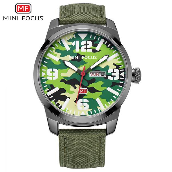 MINIFOCUS Fashion Sport Watches Men Durable Nylon Strap 22mm relojes hombre Wrist Watches Waterproof Watch Gift For Men