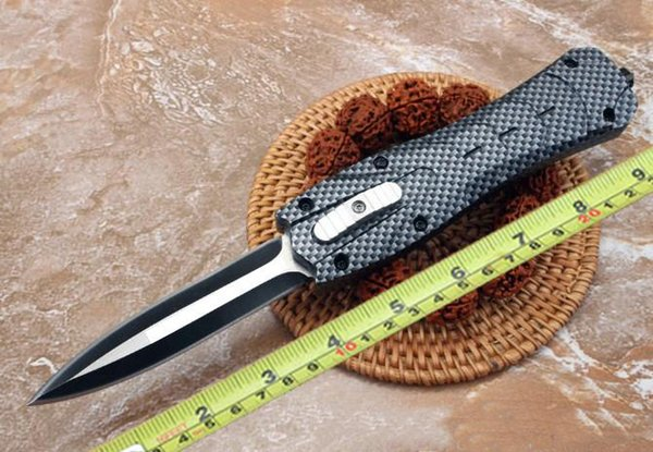 Tático 163 clássico faca automática design de fibra de carbono ampla alça grossa estrutura estável clássico auto defesa dom faca frete grátis