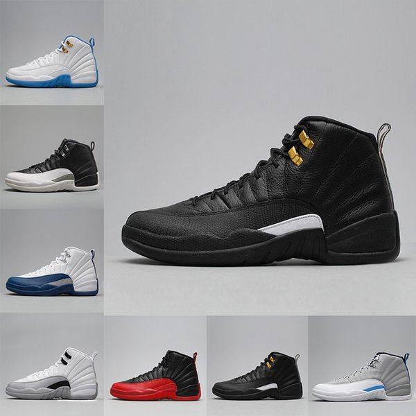 2018 yüksek kalite 12 12 s XII adam Basketbol ayakkabı Fransız Mavi TAXI Grip Oyunu Gama mavi Playoff Varsity KıRMıZı spor Sneakers