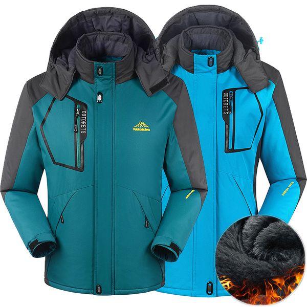 Großhandel Männer Frauen Winterjacke Outdoor Wandern Mantel Männer Thermische Windbreaker Männlich Camping Skifahren Sport Parkas Jacke Wasserdicht