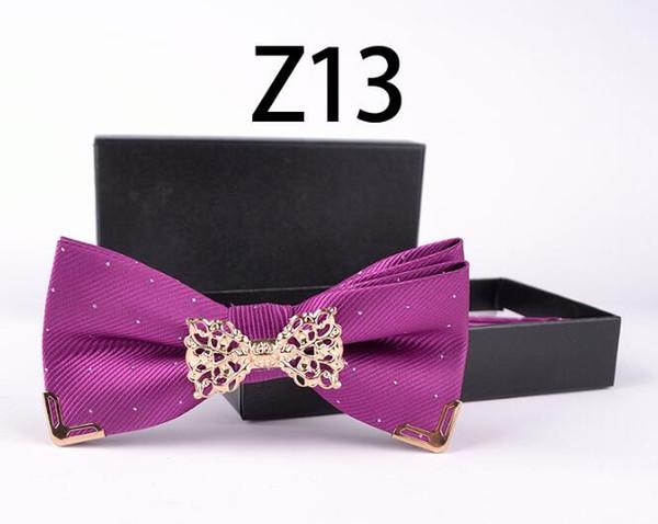 2018 New listing mode cravate en métal haut de gamme Set cravates pour hommes cravate beau noyau de cravate de la famille royale et les fournitures de mariage 31