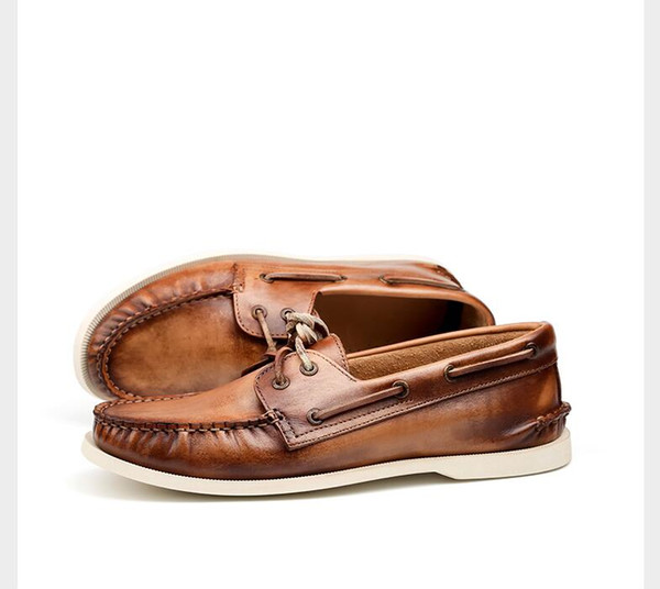 TOP MENS HANDMADE natural leather slippers,mules, sandals 6