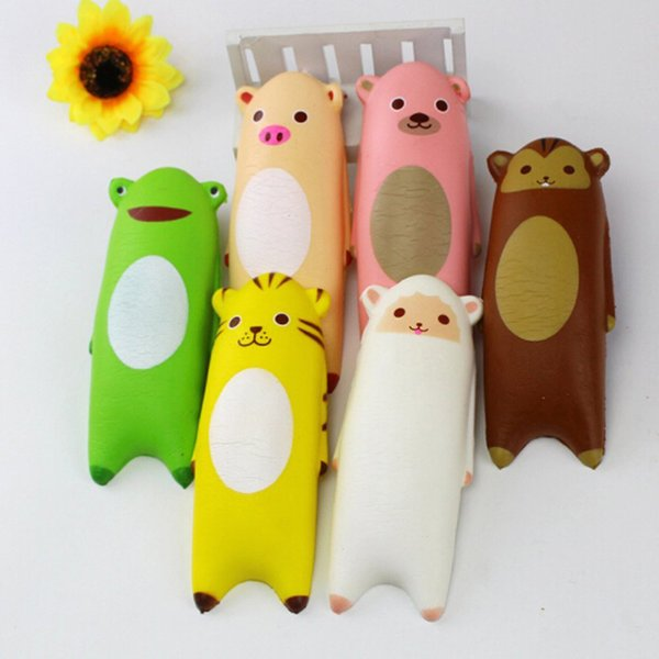 All'ingrosso 14CM Jumbo Squishy Ikirufriends mano cuscino Cartoon Panda Tiger Monkey pecore pane giocattolo divertente