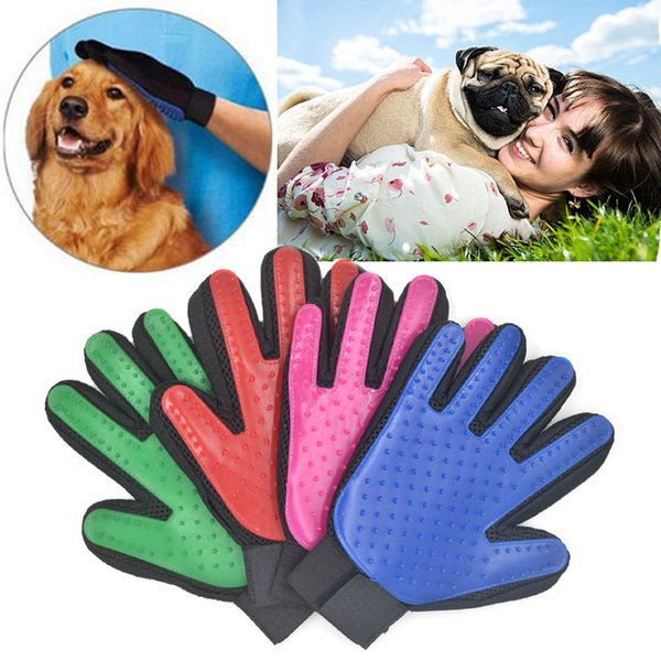 Pet Brush Glove Cat Grooming Massage Bath Clean Brush Magic Five Finger Glove Gentle Efficient Groomer Chien Dogs Honden Hond
