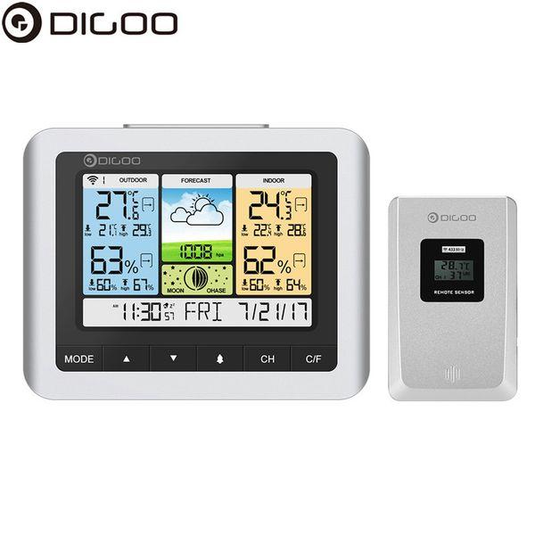 Digoo DG-TH8888 Pro Wireless Sensor Wetterstation Hygrometer Home USB Outdoor Wettervorhersage Sensor Clock