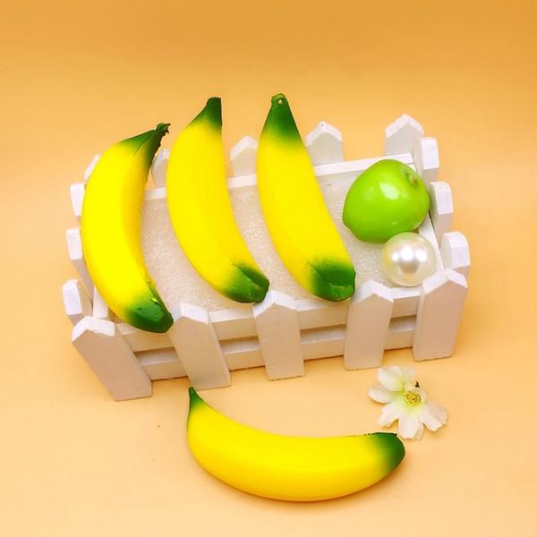 18 cm simülasyon PU büyük muz meyve modeli telefonu çanta kolye gıda ev aksesuarları oyuncak sahne