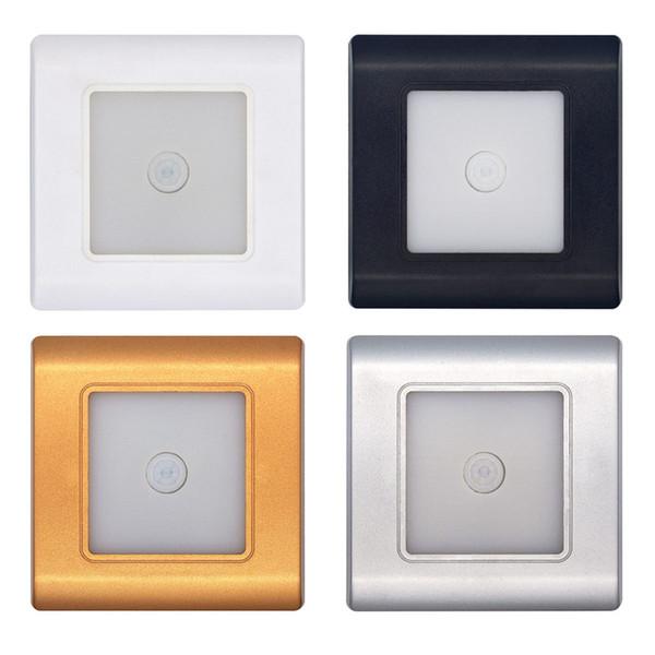 Bewegungsmelder Wandleuchte LED Treppen Leuchten Körper Sensor Lampe 185-265 V Einbautreppe Leiter Wand Lampen Footlight Nachtlicht