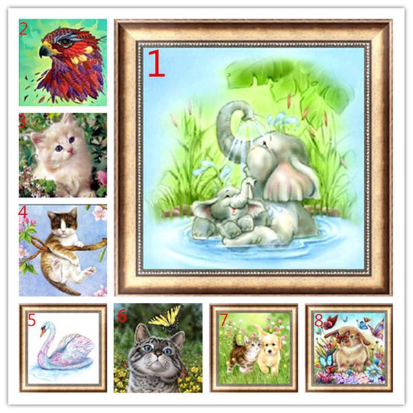 Cat,dog,eagle,elephant 5d diy diamond painting 3D diamond embroidery DIY rhinestone painting christmas decoration halloween animal
