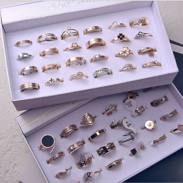 HOT ! free shipping stainless steel difference fancy style fit men and women size 16-22 mix choose 50pcs a lot