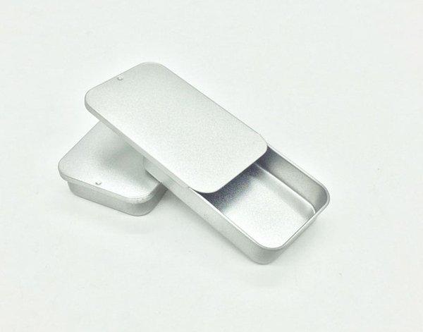 Rectangular Medium Slide Cover Mint Tin Box Candy Storage Box Wedding Decoration Pill Cases portable container 100pcs/lot