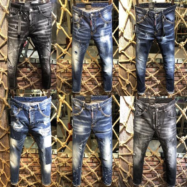 Großhandel 2019 Neue Stil Marke D Männer Denim Jean Stickerei Tiger Hosen Löcher D2 Jeans Reißverschluss Männer Hosen Hose 44 54 Von Goodgoods6688,