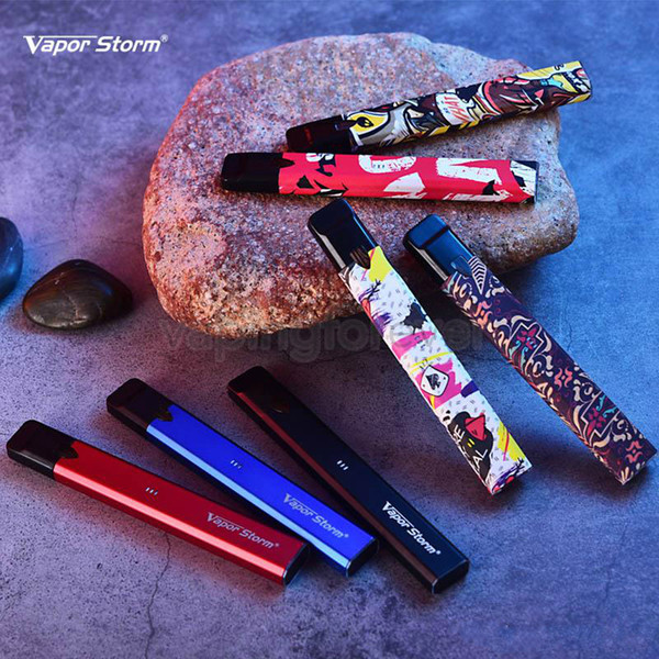 Genuine Vapor Storm Stalker Kit E Cigarettes Vape Pod Kits 400mAh Battery 1.8ml Refillable Vape Cartridges Pod Vaporizer E Cigarette Kits