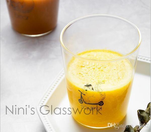 Bom Dia Copo De Vidro Transparente Estilo Simples Sem Lidar Com Chaleira Frutas Suco De Limão Copos High End Presentes 5 5 hz ii
