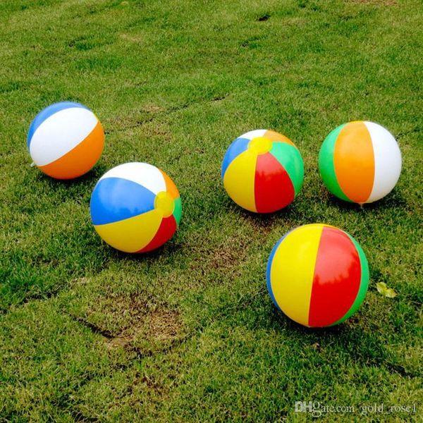 Beach Ball 6 Colour Striped Rainbow Beach Ball Outdoor Beach Ball Water Sports Balloon Best Gift For Kids 23cm